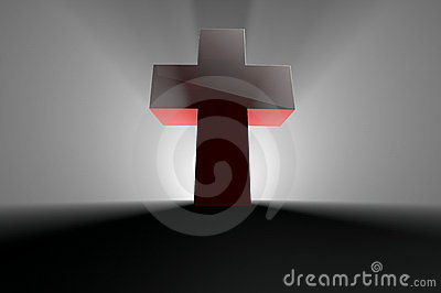 Cross with light from behind