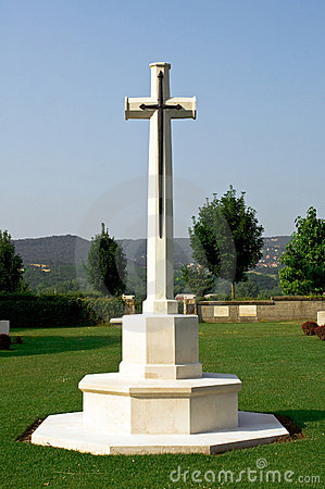 Cross in a military cemetery