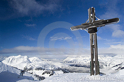 Cross on a Mountain Summit