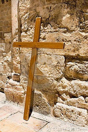Cross Near The Church Of The Holy Sepulcher Royalty Free Stock Photos - Image: 23445978