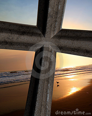 Cross On Ocean Sunset