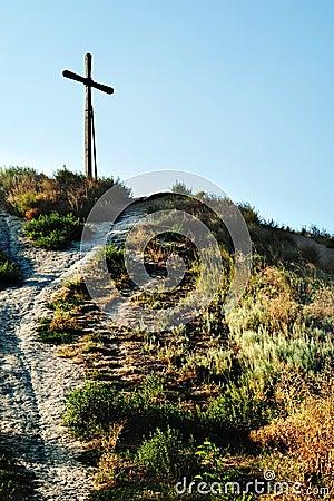 Free Cross On Top Of Mountain Stock Photo - 16429880