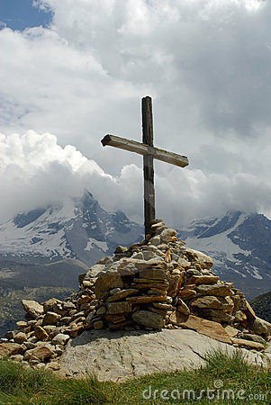 Free Cross On Top Of Mountain Stock Image - 3194161