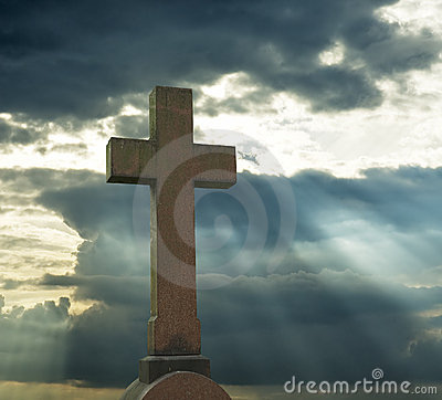Free Cross Over Cloudy Sky Royalty Free Stock Photo - 1320275