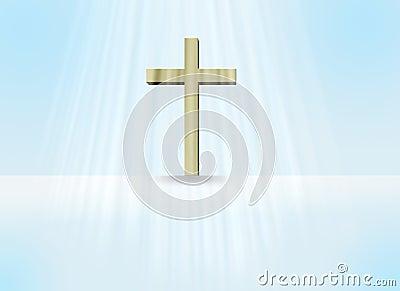Cross raster illustration
