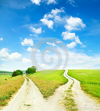 Free Cross Roads Royalty Free Stock Image - 34071046