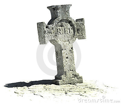 Cross shaped gravestone
