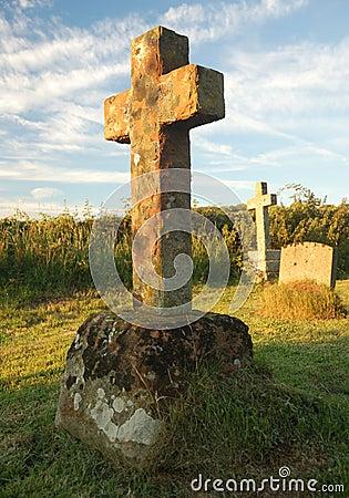 Free Cross Shaped Headstone Stock Image - 15296731