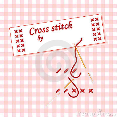 Cross Stitch Label