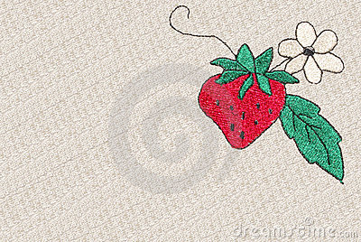 Cross-stitch strawberry
