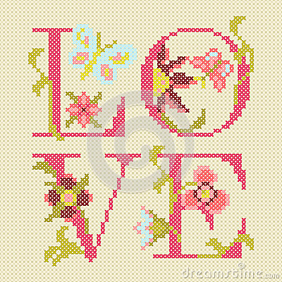 Cross-stitching embroidery