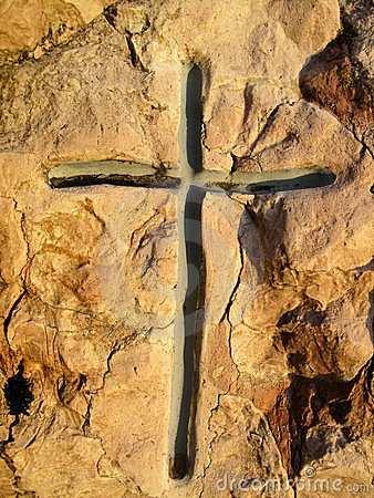 Cross in the stone