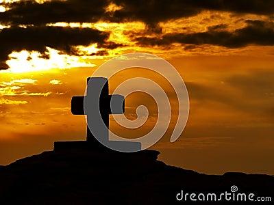Cross at sunset 1
