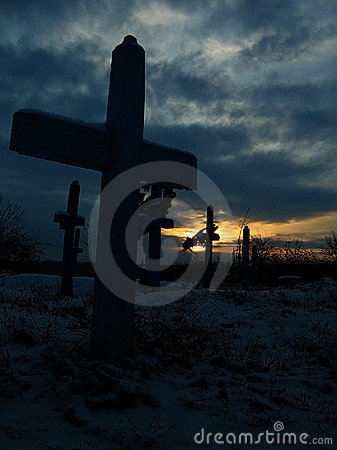 Cross at the sunset