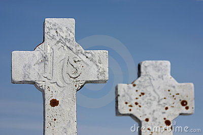 Cross tombstones