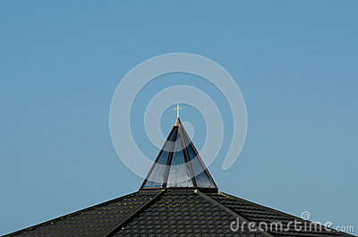 Cross on top of a church