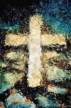 Free Cross Under The Water Stock Image - 17801511