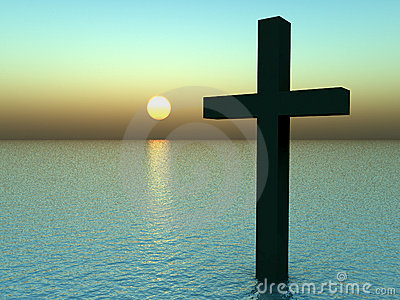 The Cross In Water At Sunrise 21
