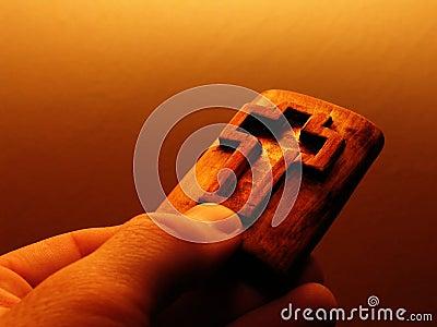 Cross in wood
