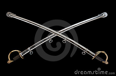 Crossed Cavalry Sabers Royalty Free Stock Image Image