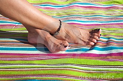 Crossed feet