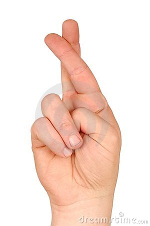 Crossed Fingers Stock Photos - Image: 4573813