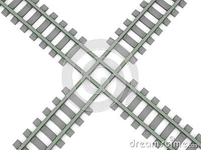 Crossed railroad
