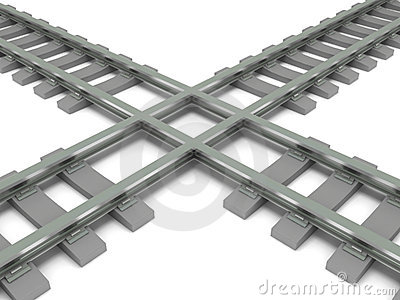 Crossed railroad