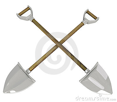 Crossed Shovels