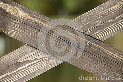 Crossed Wooden Planks