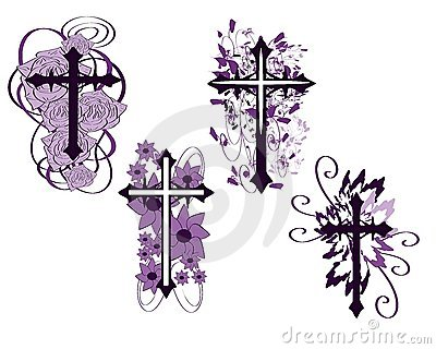 set of isolated Crosses decorated