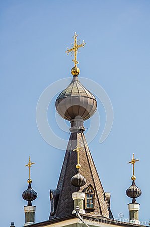 Free Crosses And Domes Of Church In Alushta Stock Photo - 39124160