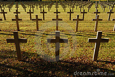 Crosses at French soldiers cemetery