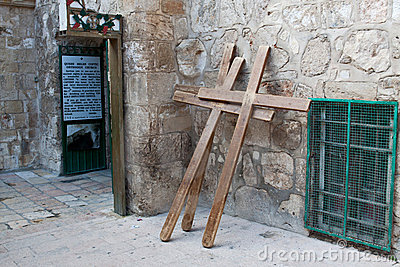 A crosses in Jerusalem, Israel.