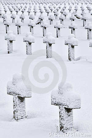 Crosses on the snow