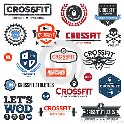 Free Crossfit Athletics Graphics Stock Images - 25682874
