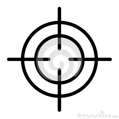 Free Crosshair Icon, Outline Style Royalty Free Stock Photo - 140331895