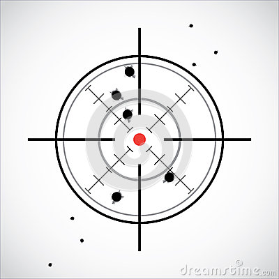 Crosshair With Red Dot Stock Image - Image: 28600211