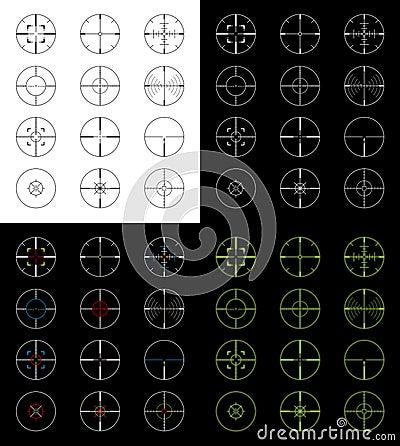 Free Crosshairs Set Royalty Free Stock Images - 22595769