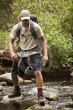 Free Crossing A Stream Royalty Free Stock Image - 20556966