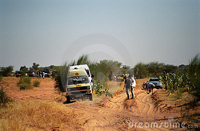 Crossing the desert, Mauritania Editorial Stock Image