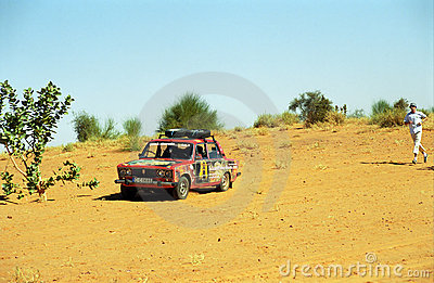 Crossing the desert, Mauritania Editorial Image