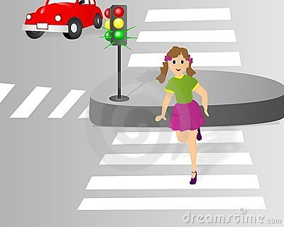 Crossing the street, cdr vector