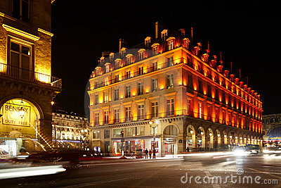 Crossroad of Rue de Rohan and Rue de Rivoli Editorial Stock Photo