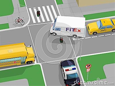 Crossroad scene