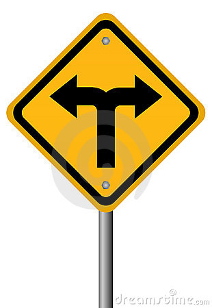Free Crossroads Two Directions Sign Royalty Free Stock Photo - 18872545