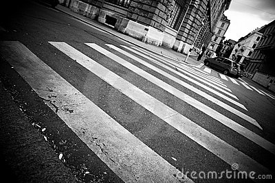Crosswalk in a city