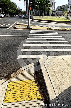 Crosswalk at intersection