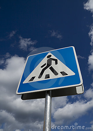 Crosswalk road sign