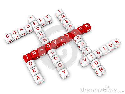 Crossword business innovation concept